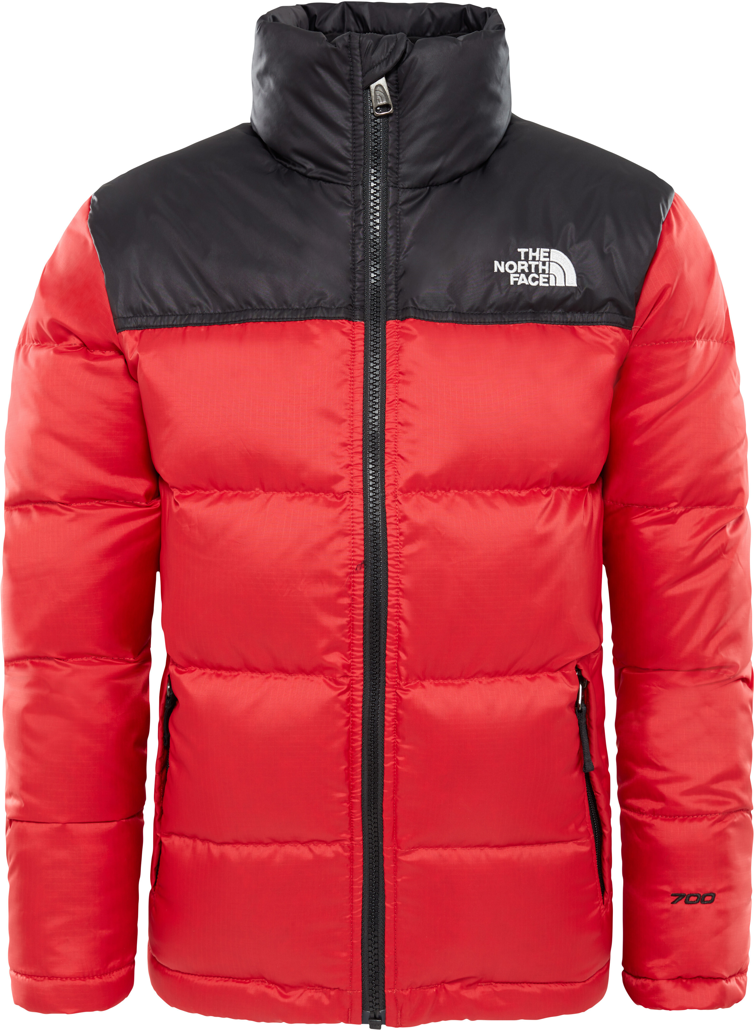 b03ab79178b0 The North Face Nuptse Jacket Children grey red at Addnature.co.uk